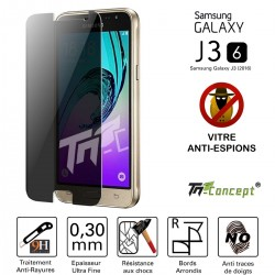 Samsung Galaxy J3 (2016) - Vitre  de Protection Anti-Espions - TM Concept®