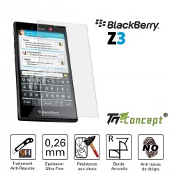BlackBerry Z3 - Vitre de Protection Crystal - TM Concept®