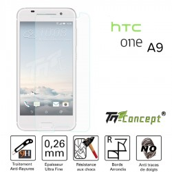HTC One A9 - Vitre de Protection Crystal - TM Concept®