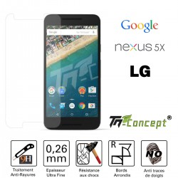 LG Google Nexus 5X - Vitre de Protection Crystal - TM Concept®