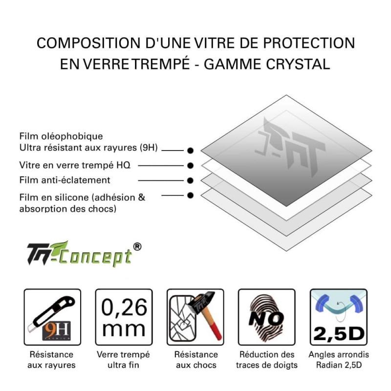 LG Google Nexus 5X - Vitre de Protection Crystal - TM Concept®