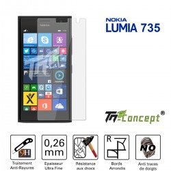 Nokia Lumia 735 - Vitre de Protection Crystal - TM Concept®