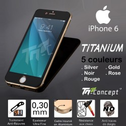 iPhone 6 / 6S - Vitre de Protection Titanium - 5 Couleurs - TM Concept®