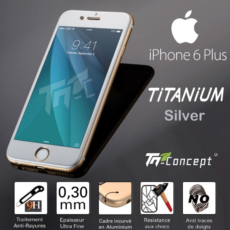 vitre protection verre tremp titanium iphone 6 plus 6s tm concept. Black Bedroom Furniture Sets. Home Design Ideas