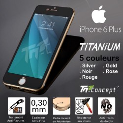 Iphone 6 Plus - Vitre de Protection Titanium - 5 Couleurs - TM Concept®