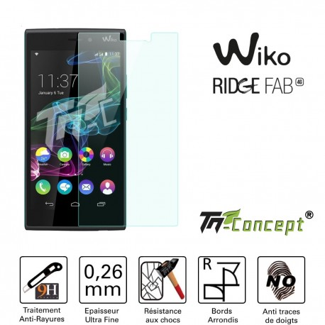 Wiko Ridge Fab - Vitre de Protection Crystal - TM Concept®