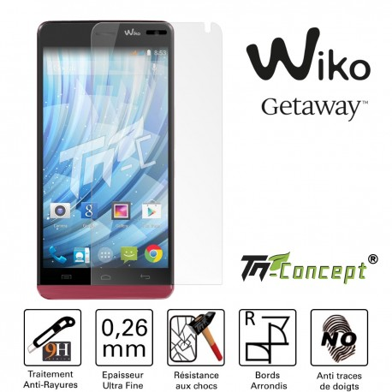 Wiko Getaway - Vitre de Protection Crystal - TM Concept®