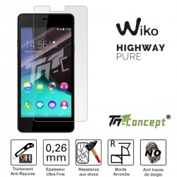 Wiko Highway Pure - Vitre de Protection Crystal - TM Concept®