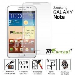 Samsung Galaxy Note 1 - Vitre de Protection Crystal - TM Concept®