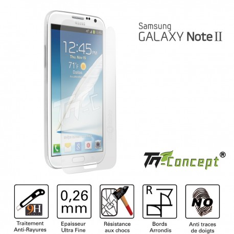 Samsung Galaxy Note 2 - Vitre de Protection Crystal - TM Concept®