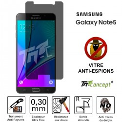 Samsung Galaxy Note 5 - Vitre de Protection Anti-Espions - TM Concept®