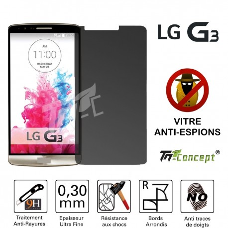 LG G3 - Vitre de Protection Anti-Espions - TM Concept®