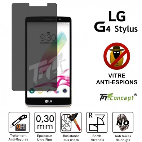 LG G4 Stylus - Vitre de Protection Anti-Espions - TM Concept®