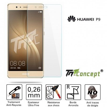 Huawei P9 - Vitre de Protection Crystal - TM Concept®