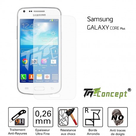 Samsung Galaxy Core Plus - Vitre de Protection Crystal - TM Concept®