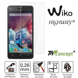 Wiko Highway - Vitre de Protection Crystal - TM Concept®