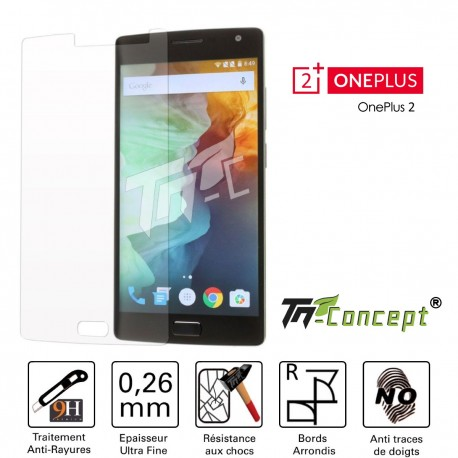 OnePlus 2 - Vitre de Protection Crystal - TM Concept®