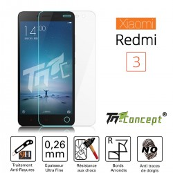 XiaoMi Redmi Note 3 - Vitre de Protection Crystal - TM Concept®