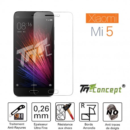 XiaoMi Mi 5 - Vitre de Protection Crystal - TM Concept®