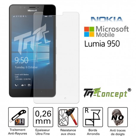 Microsoft Lumia 950 - Vitre de Protection Crystal - TM Concept®