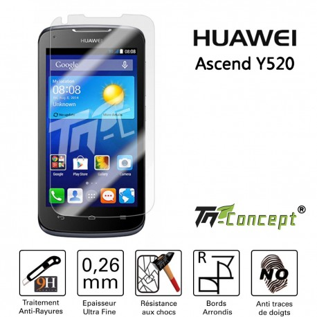 Huawei Ascend Y520 - Vitre de Protection Crystal - TM Concept®