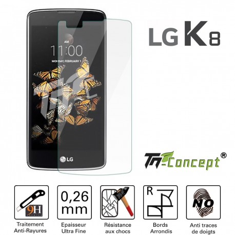 LG K8 - Vitre de Protection Crystal - TM Concept®