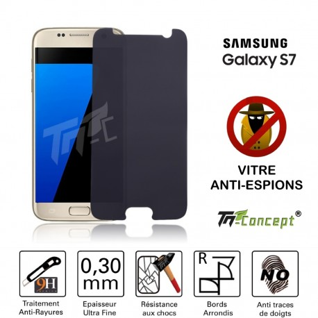 Samsung Galaxy S7 - Vitre de Protection Anti-Espions - TM Concept®