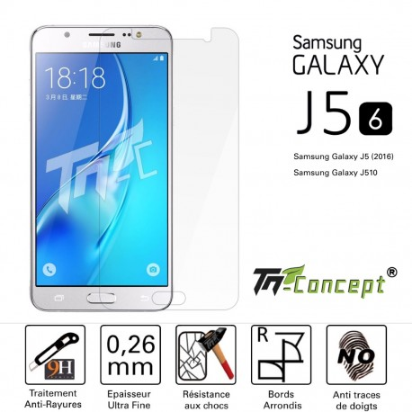 Samsung Galaxy J5 (2016) - Vitre de Protection Crystal - TM Concept®