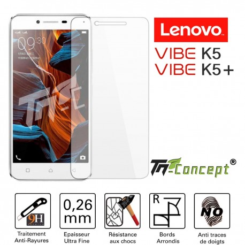 Lenovo Vibe K5 / K5 Plus - Vitre de Protection Crystal - TM Concept®