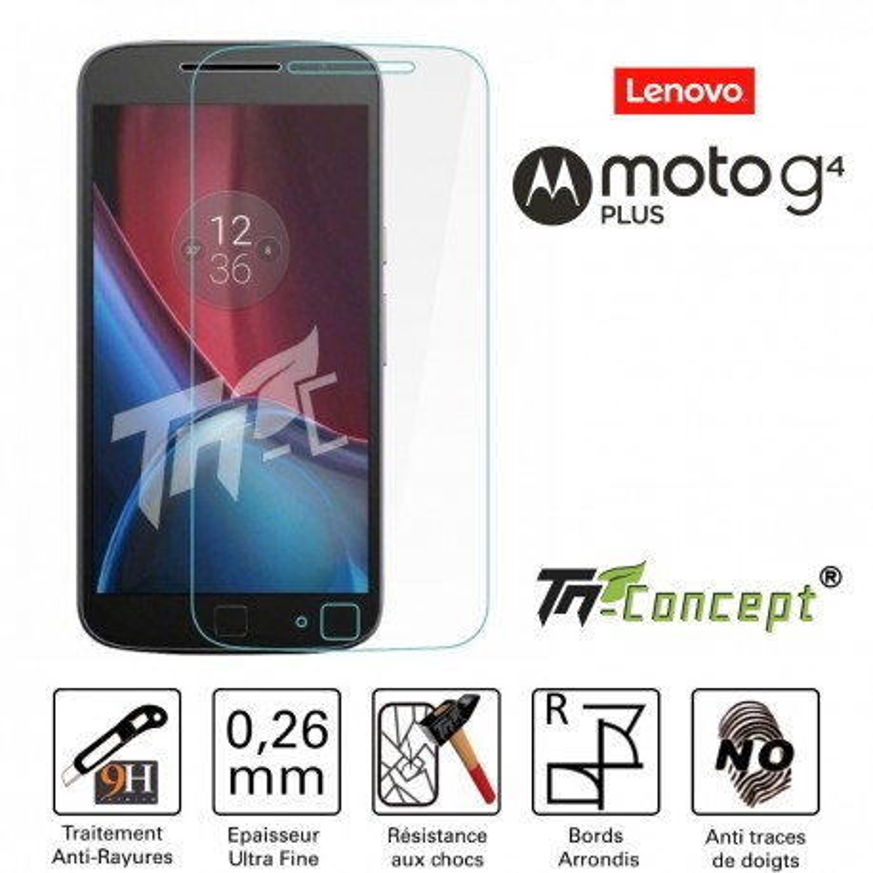 Motorola Moto G4 Plus (Lenovo) - Vitre de Protection Crystal - TM Concept®