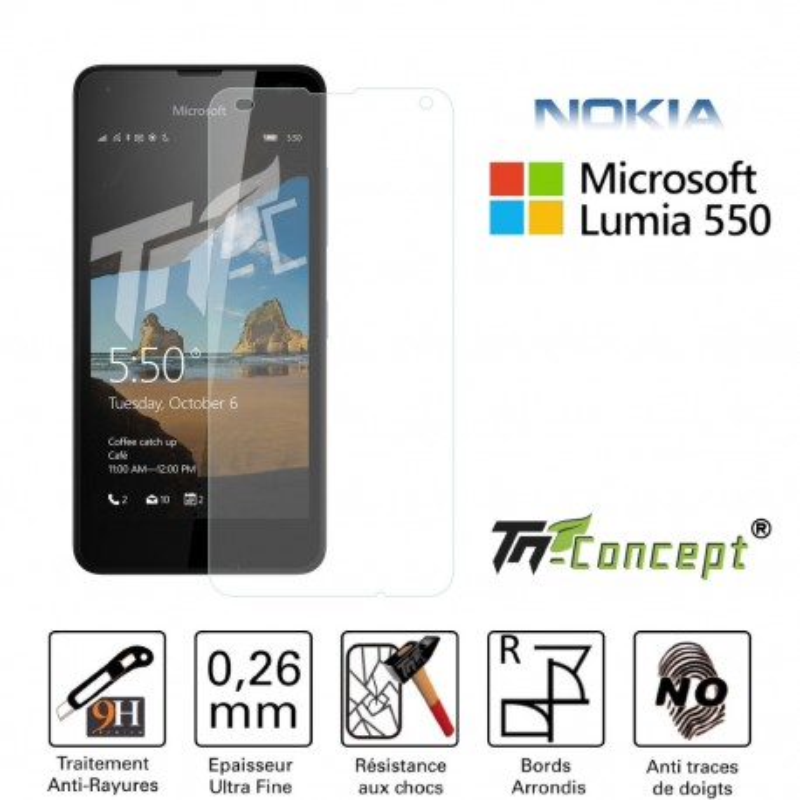 Microsoft Lumia 550 - Vitre de Protection Crystal - TM Concept®