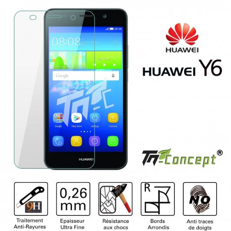 Huawei Y6 - Vitre de Protection Crystal - TM Concept®