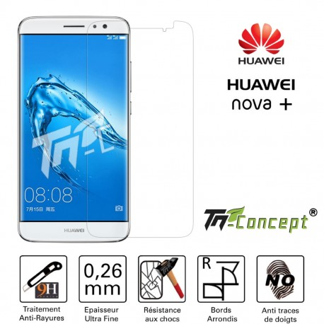 Huawei Nova Plus - Vitre de Protection en verre trempé Crystal - TM Concept®