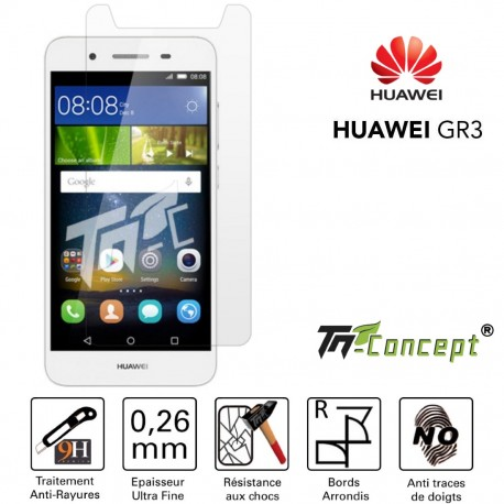 Huawei GR3 - Vitre de Protection Crystal - TM Concept®