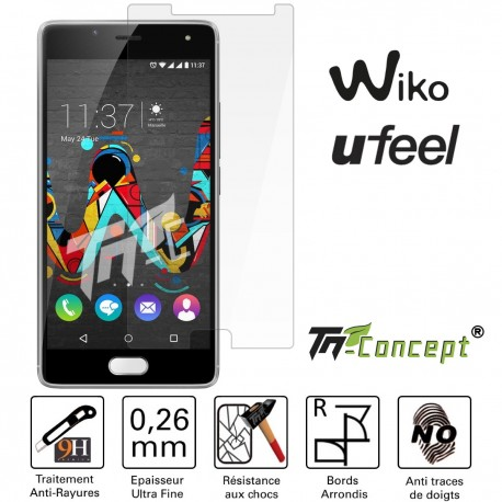 Wiko U Feel - Vitre de Protection en verre trempé Crystal - TM Concept®