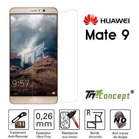 Huawei Mate 9 - Vitre de Protection Crystal - TM Concept®