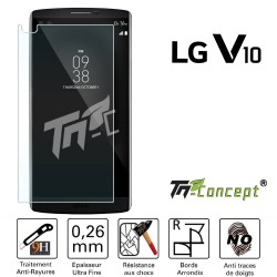 LG V10 - Vitre de Protection Crystal - TM Concept®