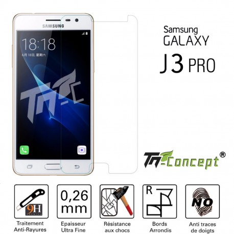 Samsung Galaxy J3 Pro - Vitre de Protection Crystal - TM Concept®