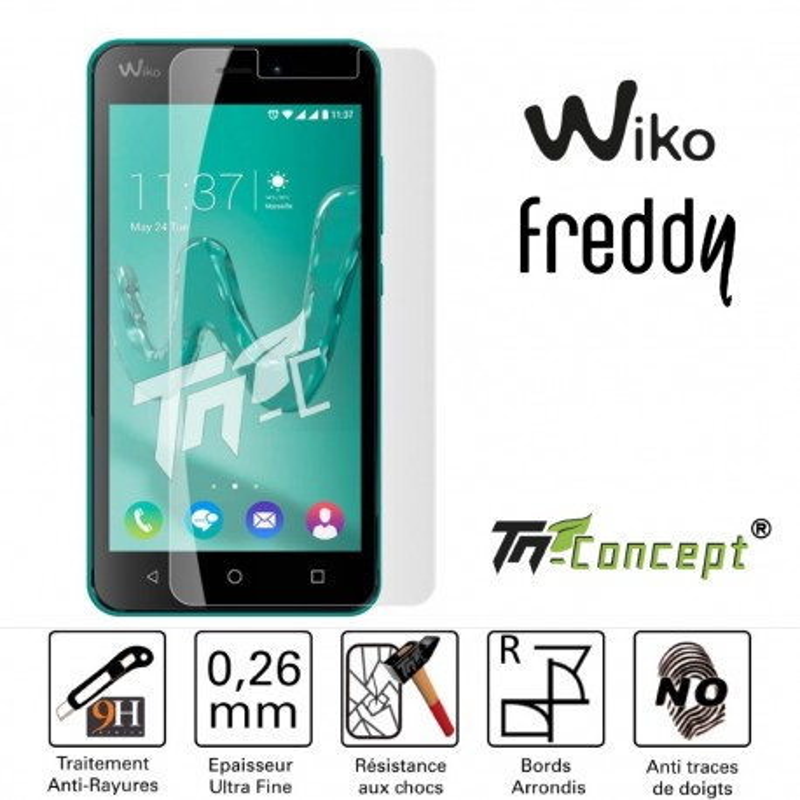 Wiko Freddy - Vitre de Protection Crystal - TM Concept®