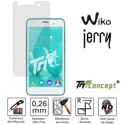 Wiko Jerry - Vitre de Protection Crystal - TM Concept®