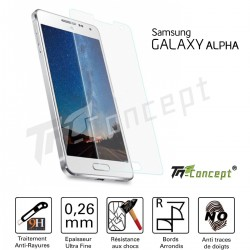 Samsung Galaxy Alpha - Vitre de Protection Crystal - TM Concept®