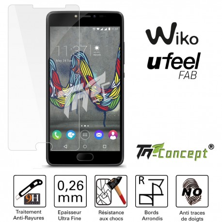 Wiko U Feel Fab - Vitre de Protection Crystal - TM Concept®