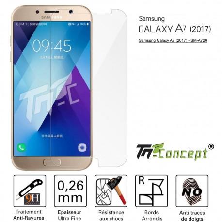 Samsung Galaxy A7 (2017) - Vitre de Protection Crystal - TM Concept®