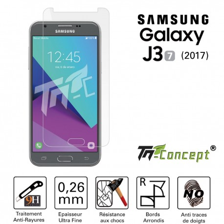 Samsung Galaxy J3 (2017) - Vitre de Protection Crystal - TM Concept®