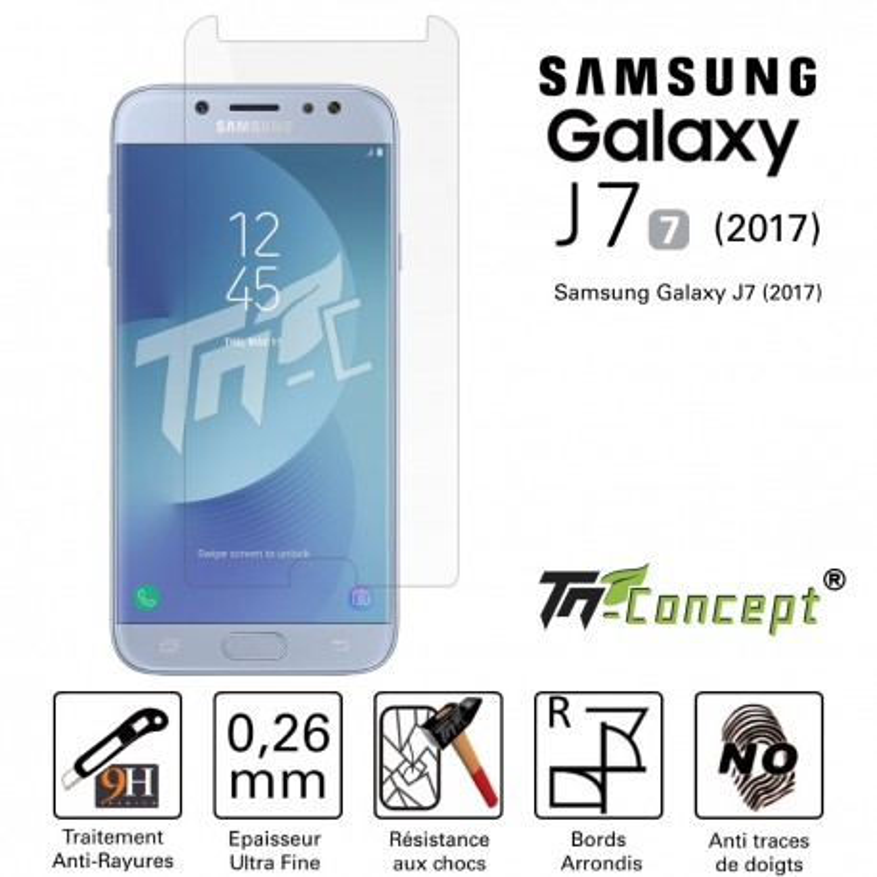 Samsung Galaxy J7 (2017) - Vitre de Protection Crystal - TM Concept®