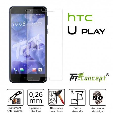 HTC U Play - Vitre de Protection Crystal - TM Concept®