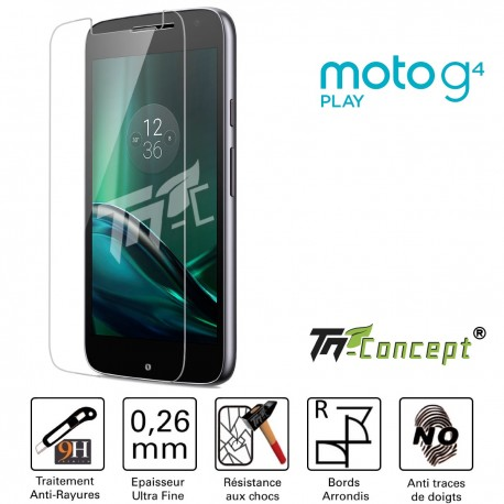 Motorola Moto G4 Play - Vitre de Protection Crystal - TM Concept®