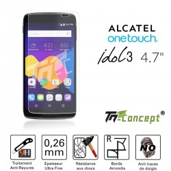 Alcatel Idol 3 (4,7') - Vitre de Protection Crystal - TM Concept®