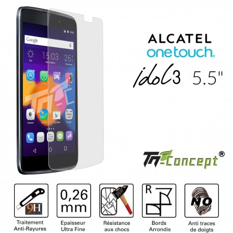 Alcatel Idol - Vitre de Protection Crystal - TM Concept®