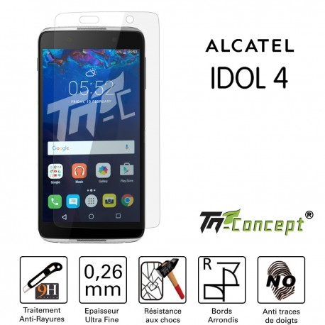 Alcatel Idol 2 - Vitre de Protection Crystal - TM Concept®